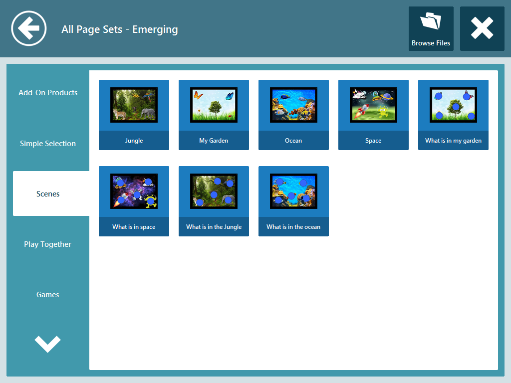 All Page Sets - Emerging Communicator 3