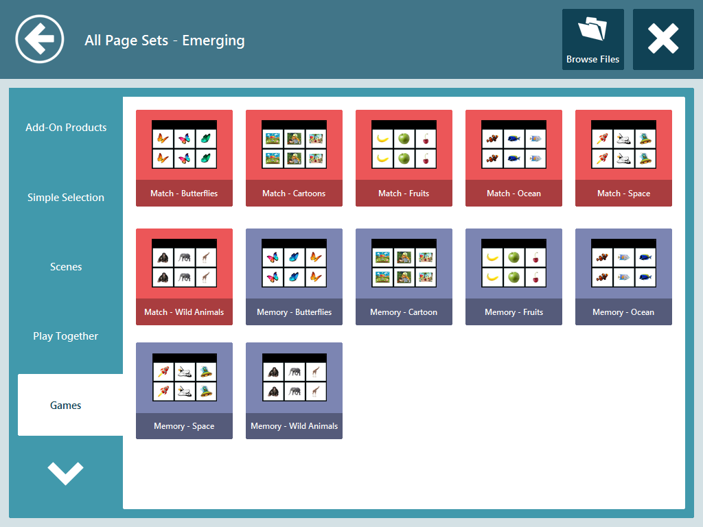 All Page Sets - Emerging Communicator 5