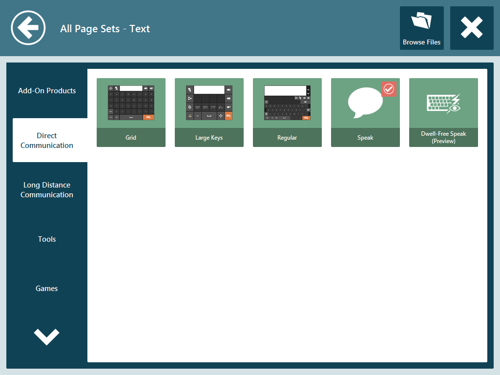 All Page Sets - Text Communicator 1